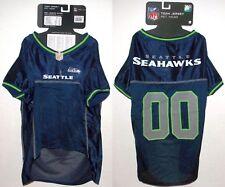 NFL Seattle Seahawks Football Dog Team Fan Gear Jersey Mesh Pet Shirt Wear - XL