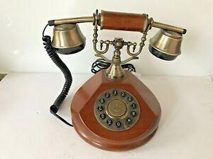 Steepletone SNW17 Vintage Style Wooden Telephone House Home Phone Landline (T1)