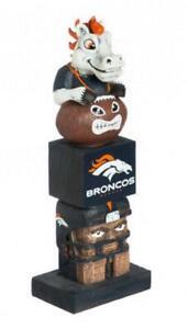 Denver Broncos Tiki Totem [NEW] NFL Lawn Garden Statue Gnome Figure