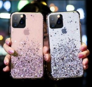 GLITTER Case For iPhone 11 12 Pro Max XR X 8 7 Plus Shockproof Protective Cover