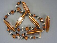 Antique Art Deco Golden Topaz Long Beads was necklace