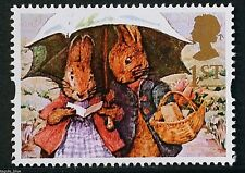 """Peter Rabbit & Mrs Rabbit"" illustrated on 1993 Stamp - U/M"