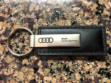 Audi collection 3181900701 Black//Silver Audi RS Leather Key Ring