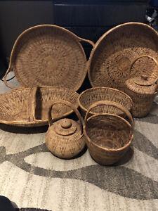 Buka Baskets And Trays Lot.