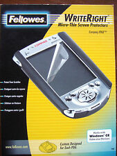 FELLOWES WRITERIGHT MICRO THIN SCREEN PROTECTORS FOR  COMPAQ iPAQ PDAs10 sheets