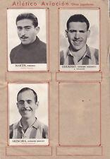 12 Cromos ATLÉTICO AVIACIÓN ( Album Fotos Deportivas FHER 1942 )
