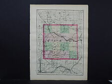Michigan Map 1873 Double Sided, Counties of Barry or Eaton J19#78