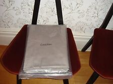 Calvin Klein Home Acacia Quarry Single Flat Sheet Made in France Grey Cotton