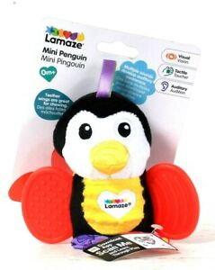 1 Ct Lamaze Mini Penguin Multiple Sounds Teether With Wings For Chewing Rattle