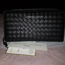 Adrienne vittadini black weave  look purse bnwt
