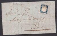 Regno di Sardegna 20 c su lettera 1857 da Ventimiglia a San Remo