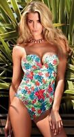 Brand New Gossard Egoboost Bandeau Plunge Swimsuit 8709 Tropical  VARIOUS SIZES