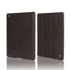 Jisoncase Brown High Quality Micro Fiber Case Cover For Apple New iPad 2 and 3rd