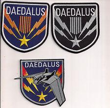 """Stargate SG-1 Daedalus Screen Accurate 4"""" Patch Set of 3-FREE S&H(SGPA-DA-Set-3)"""