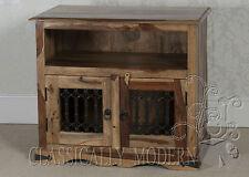 Jali Solid Sheesham Rosewood 2 Door FLAT TV Plasma Unit / Stand / Cabinet