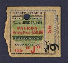 RARE 1929 Max Schmeling Pauliono Uzcudun Christner Grosso Synder boxing ticket