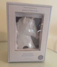 Pottery barn kid UNICORN Pony Night Light room girl Horse plug GOLD lamp CERAMIC