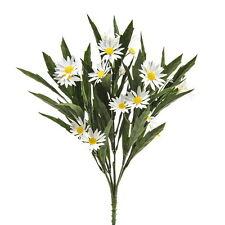 Artificial 33 Cm Daisy Prado Bush-Blanco Y Amarillo Flor En Primavera arbustos