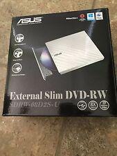 ASUS USB 2.0 White External Slim CD/DVD Writer Model SDRW-08D2S-U