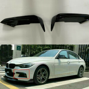 ABS Front Bumper Splitter Fog Lamp Cover Trim Fit for BMW 3 Series F30 2013-17