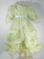 """Fancy Yellow Dress with Lace Over Dress with Bloomers for 16"""" Doll"""