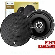 "1 Pair - Infinity Alpha 6530 6.5"" 290 Watts 3-Way Car Audio Coaxial Speakers"