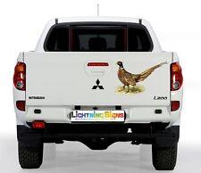 Pheasant Country Gamekeeper Hunting Car Van 4x4 Pick Up Wall Art Stickers Decals