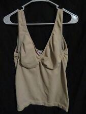 Women's Rhonda Shear Shapewear Solid Nude Tank Top Cami 99747 R997 Plus Size 2X