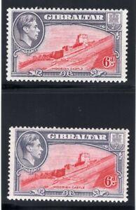 1939-1951 Gibraltar. SC#113,113b. SG#126,126b. Mint, Never Hinged, VF