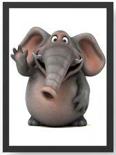 Poster Kunstdruck auf Qualitätspapier Artland Wildtiere Elefant Foto Grau T0MN