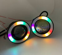RGB colourchange Projector Cob LED Fog DRL Spot Lights Angel Eyes For BMW MINI S