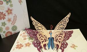 Beautiful 3D Pop Up Butterfly Card.(Birthday, Thank You, Get Well, Congrats....)
