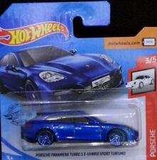 Hot Wheels Porsche Panamera turbo S E-Hybrid sport turismo 3/5 azul 44/250