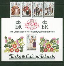 Br Cw: Turks/Caicos Isles #342-346 Nh 25th Annivers Qe Ii Coronation - Lot#2/21