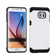 STEALTH WHITE TOUGH ARMOUR CASE SAMSUNG GALAXY S6 EDGE LIKE SPIGEN LIFEPROOF
