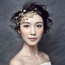 Gold Branche Leaves Headband Bridal Headpiece Hairband Hair Accessory Jewelry
