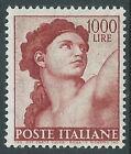 1961 ITALIA MICHELANGIOLESCA 1000 LIRE MNH ** - Z22