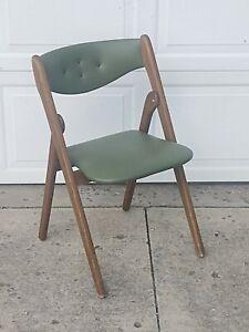 Vintage MCM Green Nordquist Coronet Wonderfold Folding Chair, Style 220