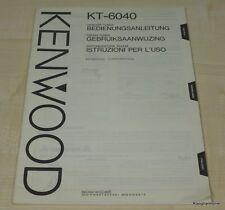 Kenwood KT-6040 Bedienungsanleitung mehrsprachig (auch in Deutsch)