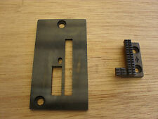 THROAT PLATE AND FEED DOG FOR INDUSTRIAL HEAVY DUTY WALKING FOOT MACHINES