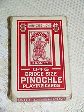 Vintage Collictable 048 Bridge Size PINOCHLE DOILY BACK Bicycle 86 Playing Cards