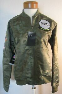 NWT Nike Seattle Seahawks Womens 2019 Salute To Service Bomber Jacket XL $110