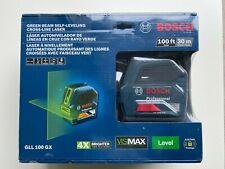 Bosch GLL 100 GX (GLL100GX) - Green Beam Self-Leveling Cross-Line Laser Level