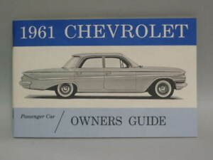 1961 Cheyrolet  Owners Guide  Handbook