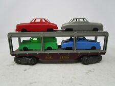 "Vintage Marx *AUTO TRANSPORT FLAT CAR #51100*  ""O""  (WITH CARS)"