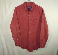 Ralph Lauren Chaps Mens Long Sleeve Oxford Dress Easy Care Shirt Size LARGE L