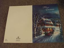 4 Christmas Cards horse pulling sleigh by Olympia