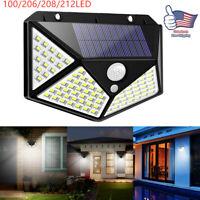LED Solar Powered Motion Sensor Light Outdoor Garden Yard Wall Lamps Waterproof
