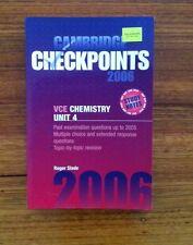 Cambridge Checkpoints 2006 VCE Chemistry Unit 4 Study Notes By Roger Slade
