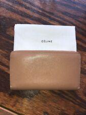 Celine Large Zip Around Leather Wallet